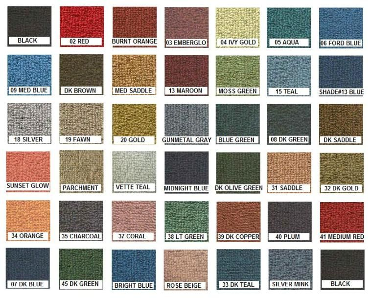 Rugs colours